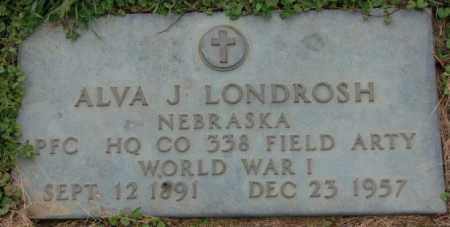 LONDROSH, ALVA J. - Dakota County, Nebraska   ALVA J. LONDROSH - Nebraska Gravestone Photos