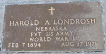 LONDROSH, HAROLD A. - Dakota County, Nebraska | HAROLD A. LONDROSH - Nebraska Gravestone Photos