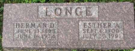 LONGE, HERMAN D. - Dakota County, Nebraska | HERMAN D. LONGE - Nebraska Gravestone Photos