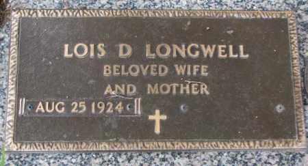 LONGWELL, LOIS D. - Dakota County, Nebraska | LOIS D. LONGWELL - Nebraska Gravestone Photos