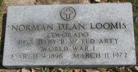 LOOMIS, NORMAN DEAN - Dakota County, Nebraska | NORMAN DEAN LOOMIS - Nebraska Gravestone Photos