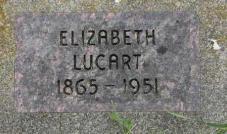 LUCART, ELIZABETH - Dakota County, Nebraska | ELIZABETH LUCART - Nebraska Gravestone Photos