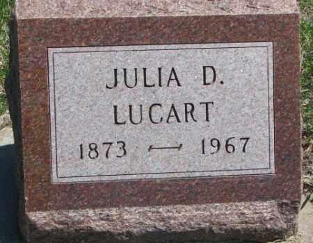LUCART, JULIA D. - Dakota County, Nebraska | JULIA D. LUCART - Nebraska Gravestone Photos
