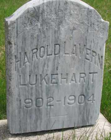 LUKEHART, HAROLD LAVERN - Dakota County, Nebraska | HAROLD LAVERN LUKEHART - Nebraska Gravestone Photos