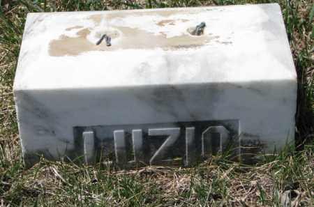 LUZIO, UNKNOWN - Dakota County, Nebraska | UNKNOWN LUZIO - Nebraska Gravestone Photos