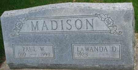 MADISON, PAUL W. - Dakota County, Nebraska | PAUL W. MADISON - Nebraska Gravestone Photos