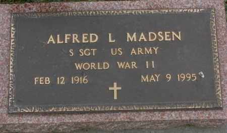 MADSEN, ALFRED L. - Dakota County, Nebraska | ALFRED L. MADSEN - Nebraska Gravestone Photos