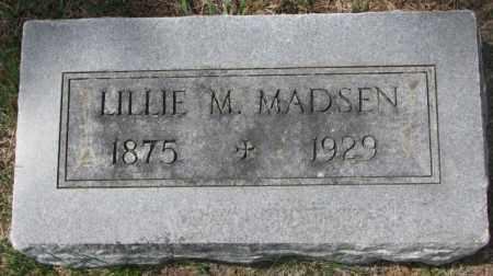 MADSEN, LILLIE M. - Dakota County, Nebraska | LILLIE M. MADSEN - Nebraska Gravestone Photos