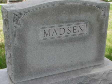 MADSEN, PLOT - Dakota County, Nebraska | PLOT MADSEN - Nebraska Gravestone Photos