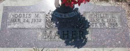 MAHER, DORIS M. - Dakota County, Nebraska   DORIS M. MAHER - Nebraska Gravestone Photos