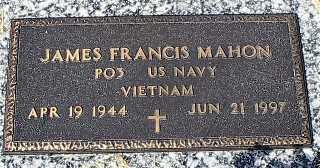 MAHON, JAMES FRANCIS - Dakota County, Nebraska | JAMES FRANCIS MAHON - Nebraska Gravestone Photos
