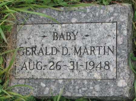 MARTIN, GERALD D. - Dakota County, Nebraska | GERALD D. MARTIN - Nebraska Gravestone Photos
