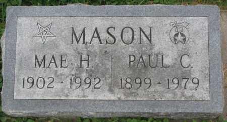 MASON, PAUL C. - Dakota County, Nebraska | PAUL C. MASON - Nebraska Gravestone Photos