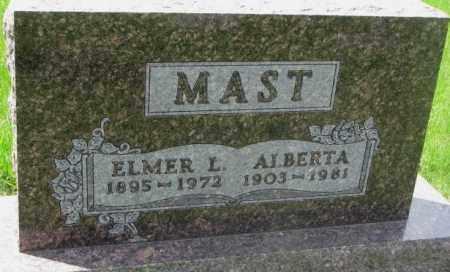 MAST, ELMER L. - Dakota County, Nebraska | ELMER L. MAST - Nebraska Gravestone Photos