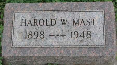 MAST, HAROLD W. - Dakota County, Nebraska | HAROLD W. MAST - Nebraska Gravestone Photos