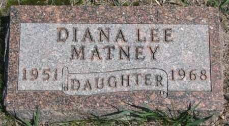 MATNEY, DIANA LEE - Dakota County, Nebraska | DIANA LEE MATNEY - Nebraska Gravestone Photos