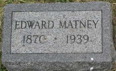 MATNEY, EDWARD - Dakota County, Nebraska | EDWARD MATNEY - Nebraska Gravestone Photos
