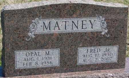 MATNEY, FRED JR. - Dakota County, Nebraska   FRED JR. MATNEY - Nebraska Gravestone Photos