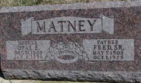 MATNEY, OPAL E. - Dakota County, Nebraska | OPAL E. MATNEY - Nebraska Gravestone Photos