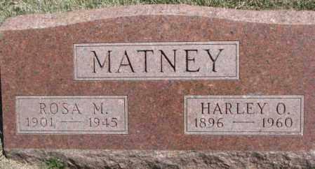 MATNEY, HARLEY O. - Dakota County, Nebraska | HARLEY O. MATNEY - Nebraska Gravestone Photos