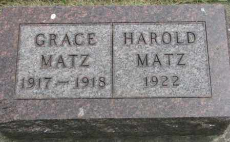 MATZ, GRACE - Dakota County, Nebraska | GRACE MATZ - Nebraska Gravestone Photos
