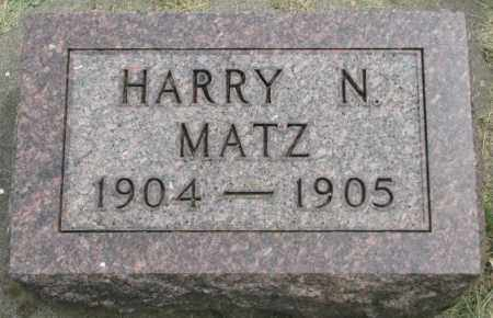 MATZ, HARRY N. - Dakota County, Nebraska | HARRY N. MATZ - Nebraska Gravestone Photos