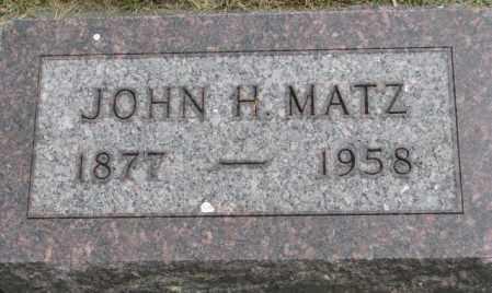 MATZ, JOHN H. - Dakota County, Nebraska   JOHN H. MATZ - Nebraska Gravestone Photos