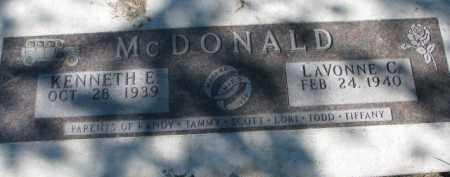 MCDONALD, LAVONNE C. - Dakota County, Nebraska | LAVONNE C. MCDONALD - Nebraska Gravestone Photos