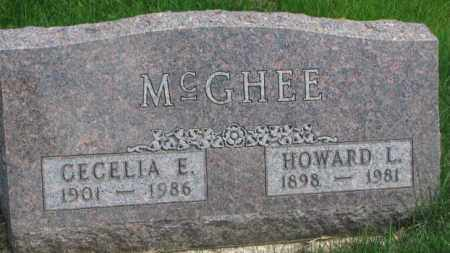 MCGHEE, HOWARD L. - Dakota County, Nebraska | HOWARD L. MCGHEE - Nebraska Gravestone Photos