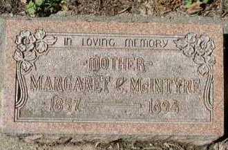 MCINTYRE, MARGARET - Dakota County, Nebraska | MARGARET MCINTYRE - Nebraska Gravestone Photos