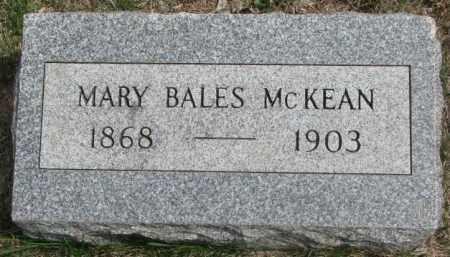 BALES MCKEAN, MARY - Dakota County, Nebraska | MARY BALES MCKEAN - Nebraska Gravestone Photos