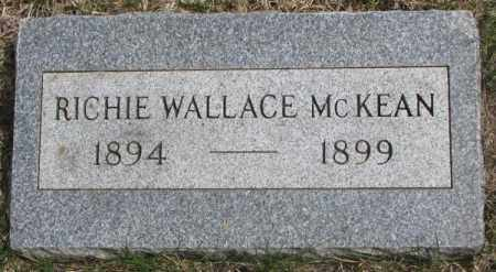 MCKEAN, RICHIE WALLACE - Dakota County, Nebraska | RICHIE WALLACE MCKEAN - Nebraska Gravestone Photos