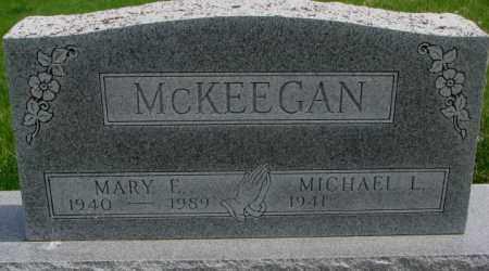 MCKEEGAN, MARY F. - Dakota County, Nebraska | MARY F. MCKEEGAN - Nebraska Gravestone Photos