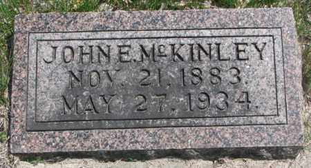 MCKINLEY, JOHN E. - Dakota County, Nebraska | JOHN E. MCKINLEY - Nebraska Gravestone Photos