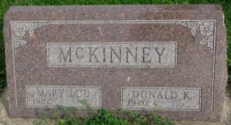 MCKINNEY, MARY LOU - Dakota County, Nebraska | MARY LOU MCKINNEY - Nebraska Gravestone Photos