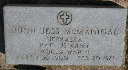 MCMANIGAL, HUGH JESS (WW II) - Dakota County, Nebraska | HUGH JESS (WW II) MCMANIGAL - Nebraska Gravestone Photos