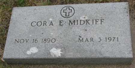MIDKIFF, CORA E. - Dakota County, Nebraska | CORA E. MIDKIFF - Nebraska Gravestone Photos