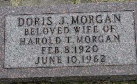 MORGAN, DORIS J. - Dakota County, Nebraska | DORIS J. MORGAN - Nebraska Gravestone Photos