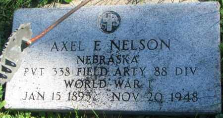 NELSON, AXEL E. - Dakota County, Nebraska | AXEL E. NELSON - Nebraska Gravestone Photos