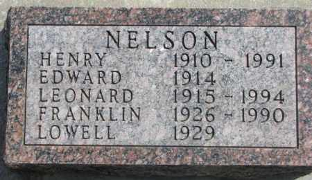 NELSON, EDWARD - Dakota County, Nebraska | EDWARD NELSON - Nebraska Gravestone Photos
