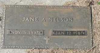 NELSON, JANE A. - Dakota County, Nebraska | JANE A. NELSON - Nebraska Gravestone Photos