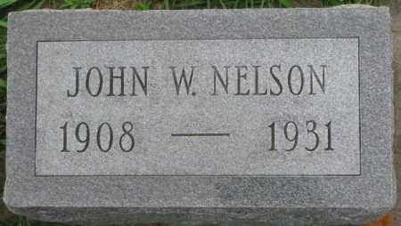 NELSON, JOHN W. - Dakota County, Nebraska | JOHN W. NELSON - Nebraska Gravestone Photos