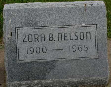 NELSON, ZORA B. - Dakota County, Nebraska | ZORA B. NELSON - Nebraska Gravestone Photos