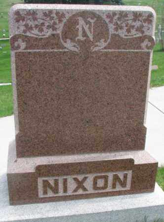 NIXON, PLOT - Dakota County, Nebraska   PLOT NIXON - Nebraska Gravestone Photos
