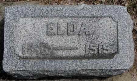 NORRIS, ELDA - Dakota County, Nebraska | ELDA NORRIS - Nebraska Gravestone Photos