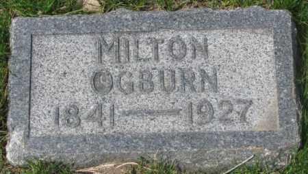 OGBURN, MILTON - Dakota County, Nebraska | MILTON OGBURN - Nebraska Gravestone Photos