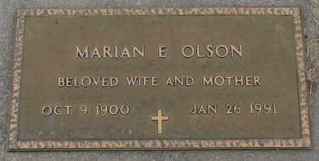 OLSON, MARIAN E. - Dakota County, Nebraska | MARIAN E. OLSON - Nebraska Gravestone Photos