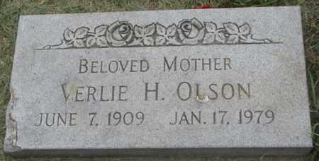 OLSON, VERLIE H. - Dakota County, Nebraska | VERLIE H. OLSON - Nebraska Gravestone Photos