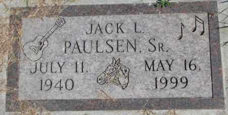 PAULSEN, JACK L. SR. - Dakota County, Nebraska | JACK L. SR. PAULSEN - Nebraska Gravestone Photos