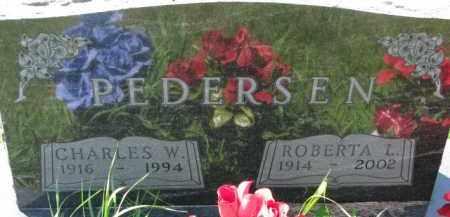PEDERSEN, CHARLES W. - Dakota County, Nebraska | CHARLES W. PEDERSEN - Nebraska Gravestone Photos